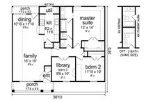 Craftsman Floor Plan - Main Floor Plan Plan #84-575