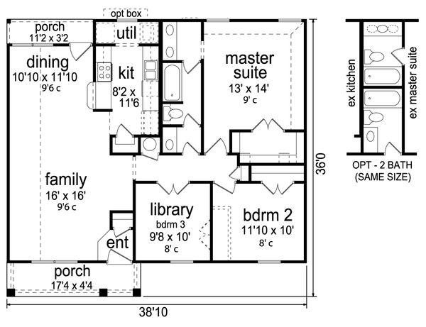 Dream House Plan - Craftsman Floor Plan - Main Floor Plan #84-575