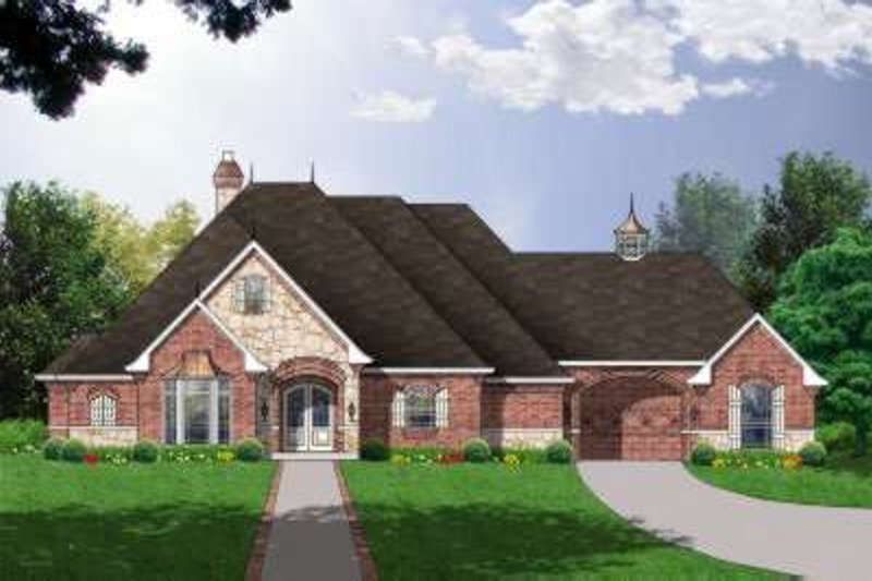 European Exterior - Front Elevation Plan #40-195 - Houseplans.com