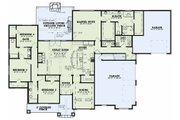 Country Style House Plan - 4 Beds 4.5 Baths 2688 Sq/Ft Plan #17-2608 Floor Plan - Main Floor Plan