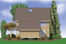 Country Exterior - Rear Elevation Plan #48-139