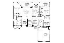 Ranch Floor Plan - Main Floor Plan Plan #930-487