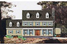 Colonial Exterior - Front Elevation Plan #3-258