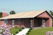 Ranch Style House Plan - 2 Beds 2 Baths 1008 Sq/Ft Plan #1-141
