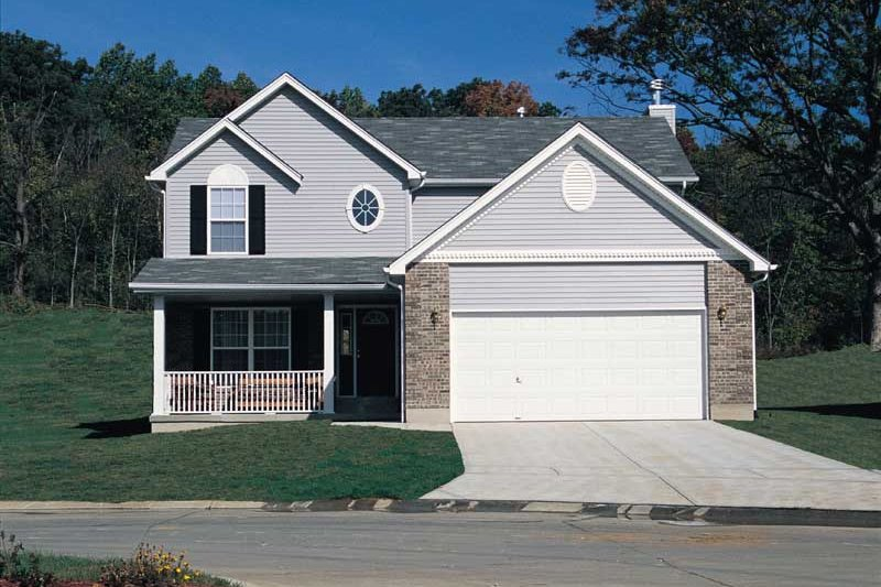 Architectural House Design - Traditional Exterior - Front Elevation Plan #57-163