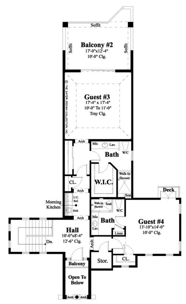 Mediterranean Floor Plan - Upper Floor Plan Plan #930-481