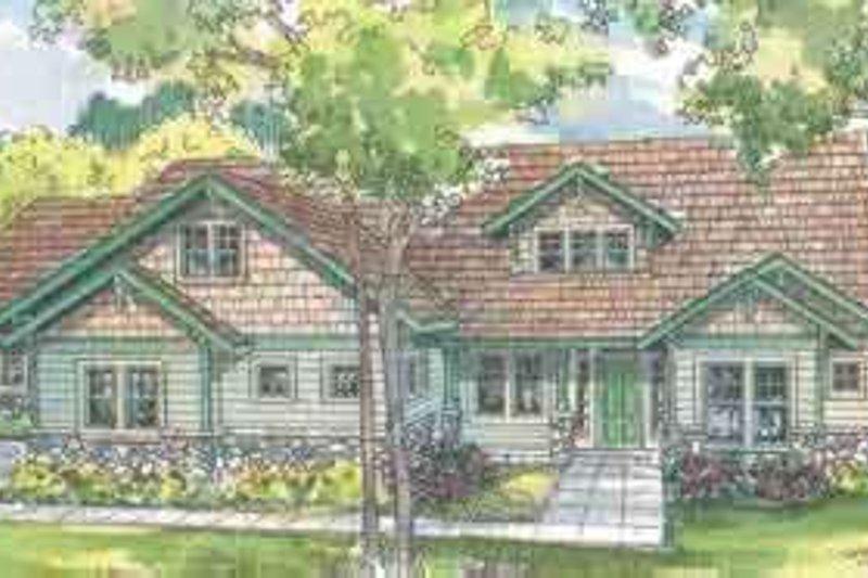Craftsman Exterior - Front Elevation Plan #124-492 - Houseplans.com