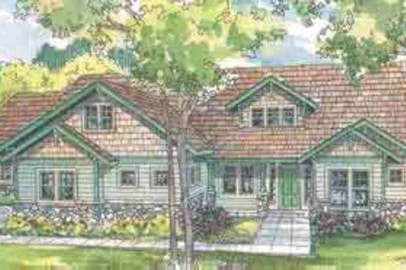 Craftsman Exterior - Front Elevation Plan #124-492