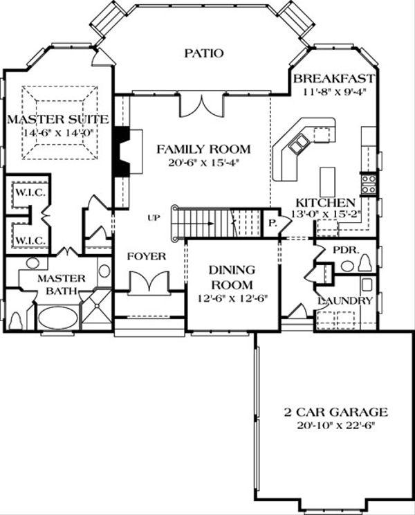 Country Floor Plan - Main Floor Plan Plan #453-29