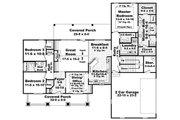 Craftsman Style House Plan - 3 Beds 2.5 Baths 1919 Sq/Ft Plan #21-292 Floor Plan - Main Floor