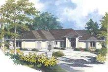 Dream House Plan - Mediterranean Exterior - Front Elevation Plan #48-224
