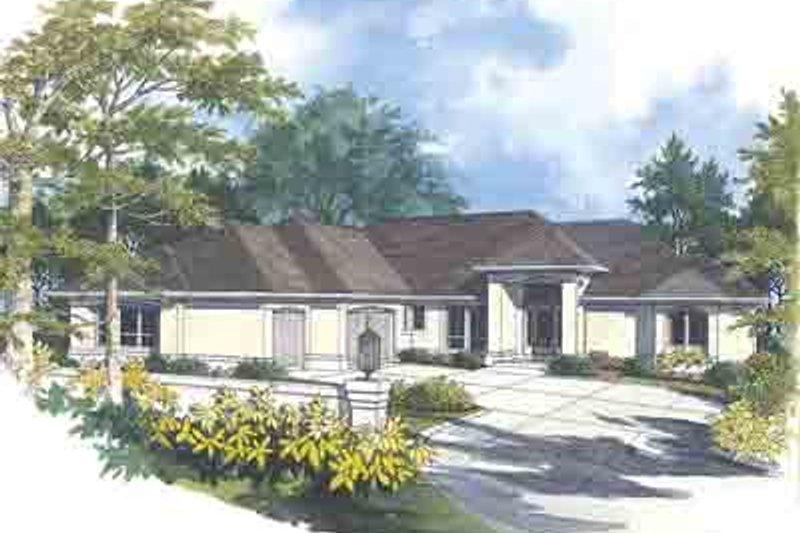 House Design - Mediterranean Exterior - Front Elevation Plan #48-224