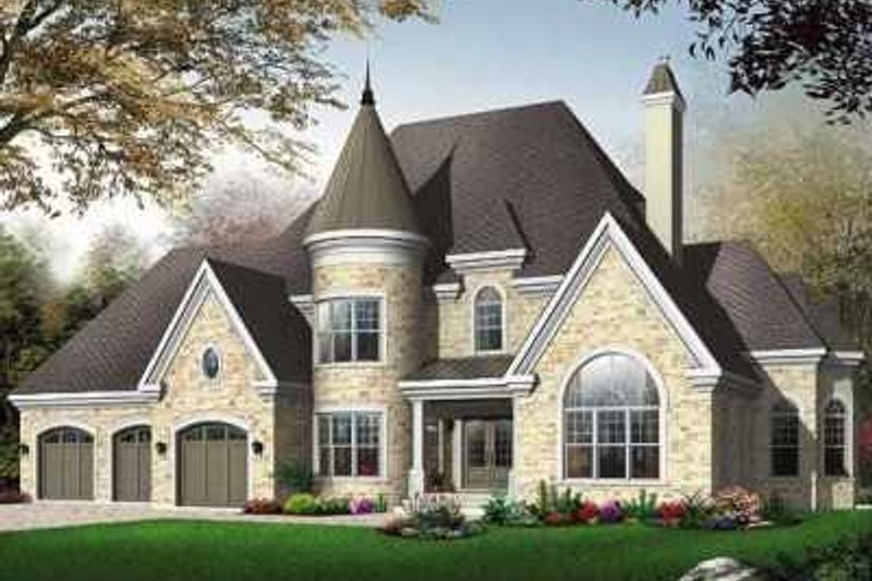 Home Plan - European Exterior - Front Elevation Plan #23-413