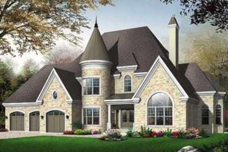 Dream House Plan - European Exterior - Front Elevation Plan #23-413