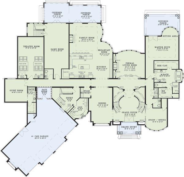European Floor Plan - Main Floor Plan Plan #17-2572