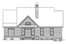 House Plan Design - Country Exterior - Rear Elevation Plan #929-625