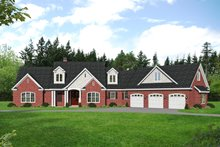 Traditional Exterior - Front Elevation Plan #932-341