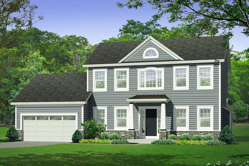 Architectural House Design - Traditional Exterior - Front Elevation Plan #1010-222