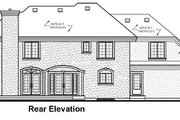 European Style House Plan - 4 Beds 3.5 Baths 4200 Sq/Ft Plan #23-344 Exterior - Rear Elevation