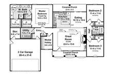 Southern Floor Plan - Main Floor Plan Plan #21-208