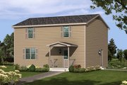 Colonial Style House Plan - 3 Beds 2.5 Baths 1664 Sq/Ft Plan #57-245 Exterior - Front Elevation