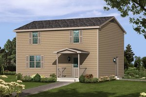 Colonial Exterior - Front Elevation Plan #57-245