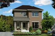 Contemporary Style House Plan - 3 Beds 1 Baths 1200 Sq/Ft Plan #25-4435 Exterior - Front Elevation