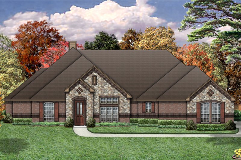 European Exterior - Front Elevation Plan #84-461
