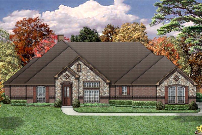 Dream House Plan - European Exterior - Front Elevation Plan #84-461