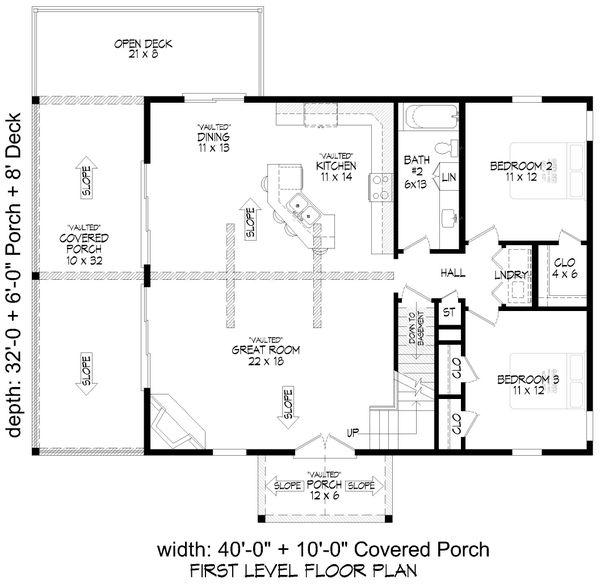 Country Floor Plan - Main Floor Plan #932-334