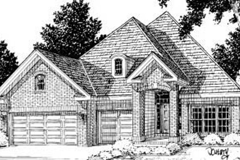 Traditional Exterior - Front Elevation Plan #20-170 - Houseplans.com