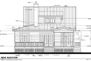 Cottage Style House Plan - 4 Beds 3 Baths 1970 Sq/Ft Plan #464-13 Exterior - Rear Elevation