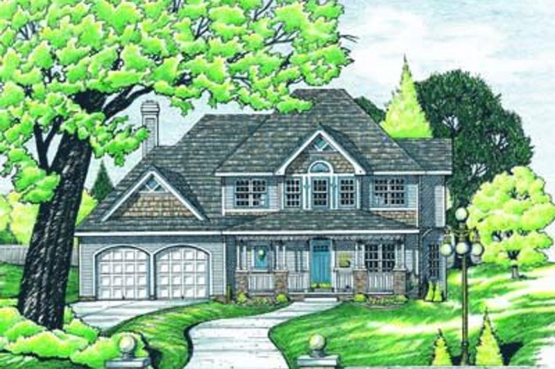 Country Exterior - Front Elevation Plan #20-920
