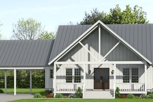 Country Exterior - Front Elevation Plan #932-360