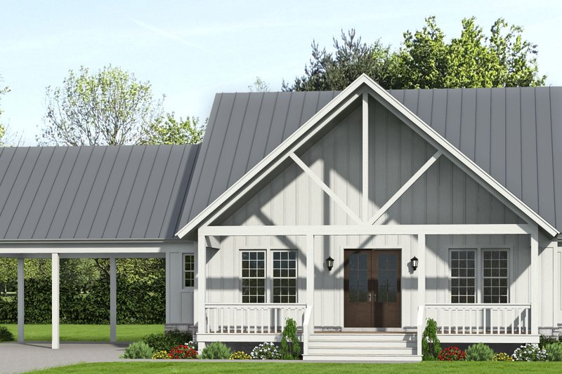 House Blueprint - Country Exterior - Front Elevation Plan #932-360