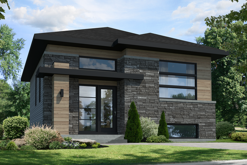 Contemporary Style House Plan - 2 Beds 1 Baths 865 Sq/Ft Plan #25-4325