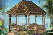 Victorian Style House Plan - 0 Beds 0 Baths 216 Sq/Ft Plan #25-4217 Exterior - Front Elevation