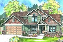 House Plan Design - Craftsman Exterior - Other Elevation Plan #124-608