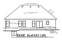 House Plan Design - Traditional Exterior - Rear Elevation Plan #20-2423