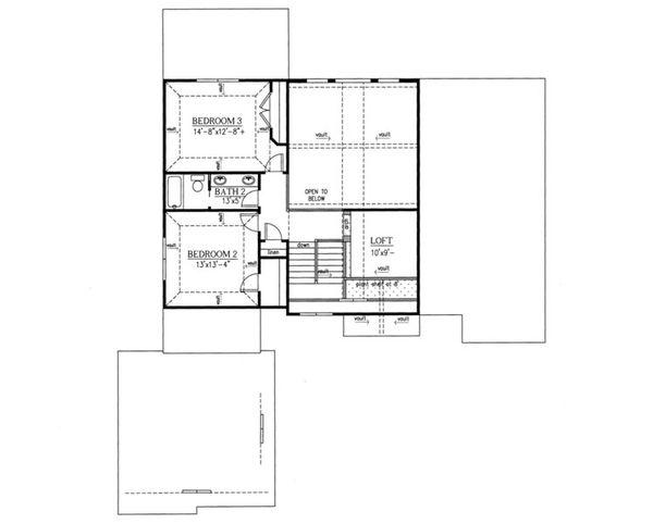 Traditional Floor Plan - Upper Floor Plan Plan #437-54