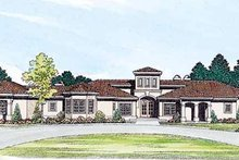 House Blueprint - Mediterranean Exterior - Front Elevation Plan #72-173