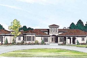 House Design - Mediterranean Exterior - Front Elevation Plan #72-173