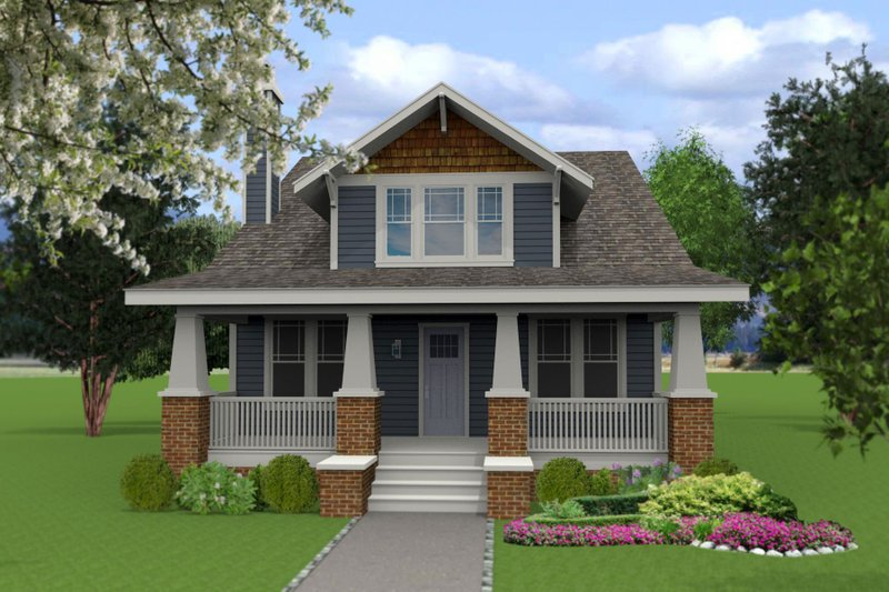 Craftsman Style House Plan - 4 Beds 3 Baths 2268 Sq/Ft Plan #461-48 Exterior - Front Elevation