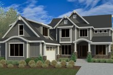 Craftsman Exterior - Front Elevation Plan #920-106