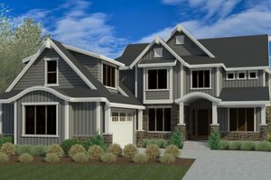 Craftsman Exterior - Front Elevation Plan #920-106