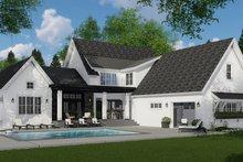 House Plan Design - Farmhouse Exterior - Rear Elevation Plan #51-1139