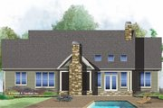 Ranch Style House Plan - 3 Beds 2 Baths 1729 Sq/Ft Plan #929-1024 Exterior - Rear Elevation