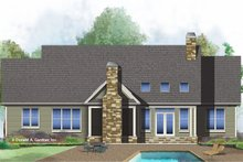 House Plan Design - Ranch Exterior - Rear Elevation Plan #929-1024