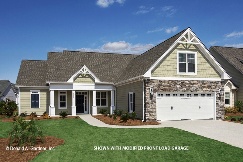 Craftsman Style House Plan - 3 Beds 2 Baths 1674 Sq/Ft Plan #929-437 Exterior - Front Elevation
