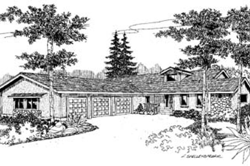 Ranch Exterior - Front Elevation Plan #60-531 - Houseplans.com